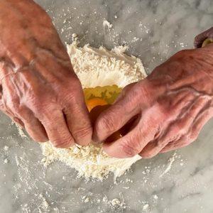 La pastiera di tagliolini dolce